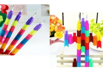 colourful stackable Pencils