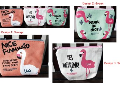 Coin Purse Flamingo